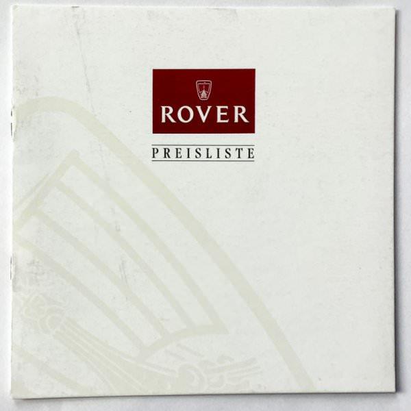 Rover Preisliste 04/94