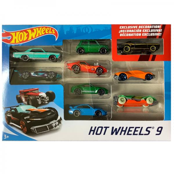 Hot Wheels | 9-Pack Morris Mini green metallic