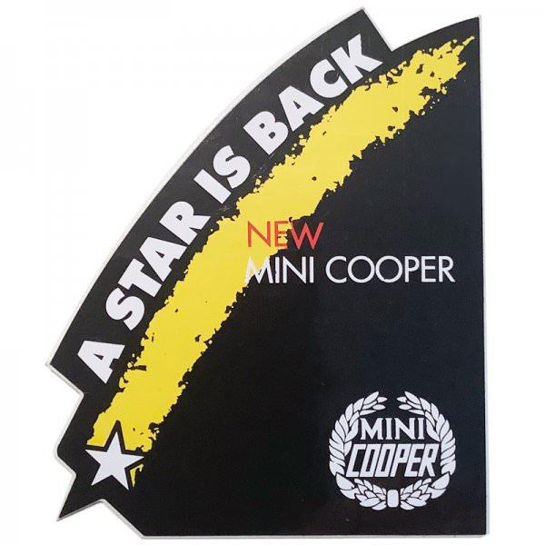 Original Mini Cooper Sticker - A Star is Back