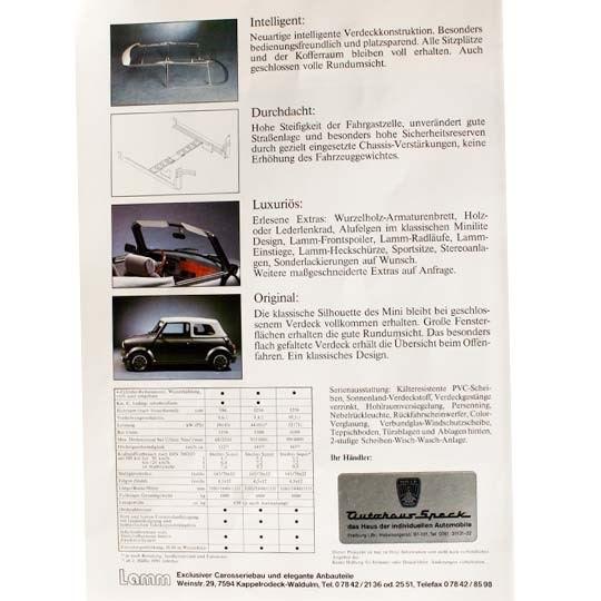 Lamm Mini Cabrio Prospekt