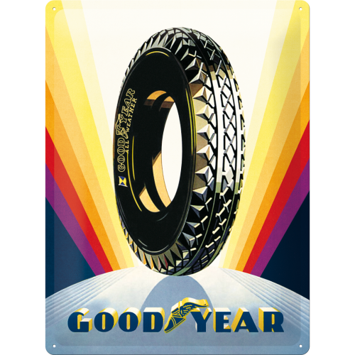 Metallschild | Good Year Rainbow Wheel