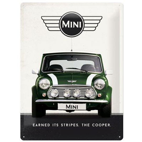 Metal sign | Earned its stripes the Cooper