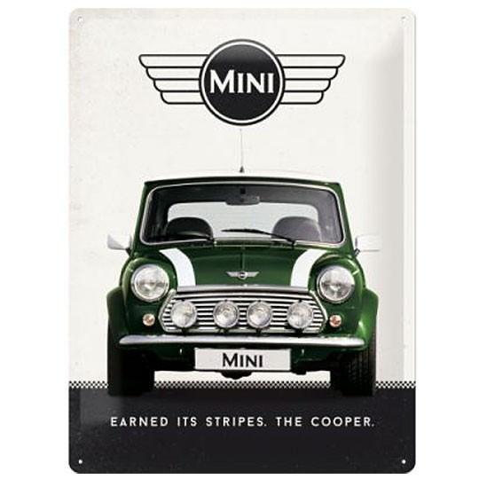 Metallschild | Earned its stripes the Cooper