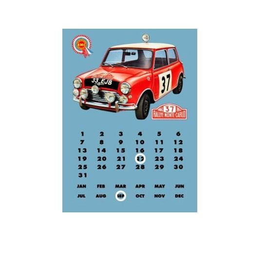FTTD   Morris Mini Cooper S EJB33 ewiger Kalender Blech