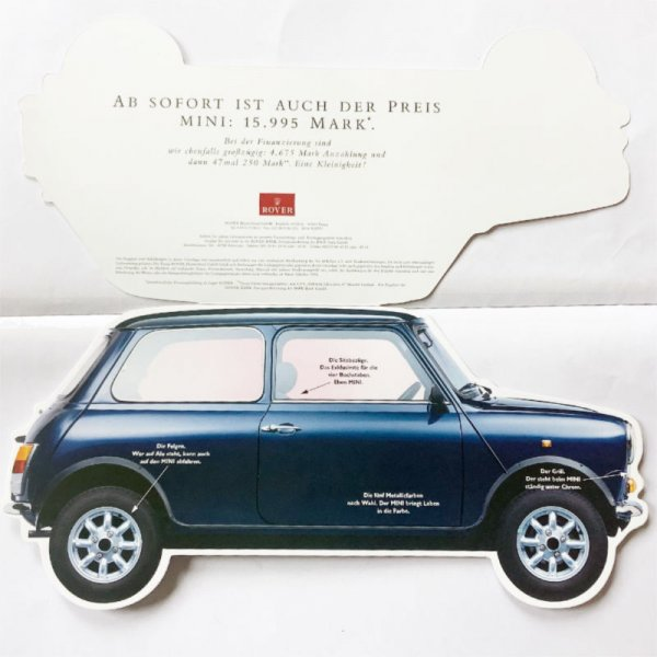 Brochure in the form of a mini silhouette