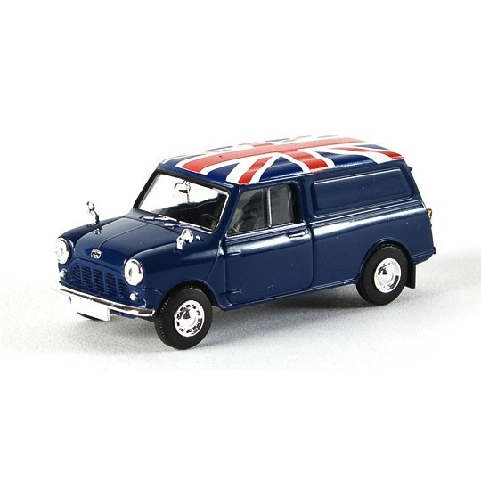 Brekina | Austin Mini Van blue Union Jack LHD