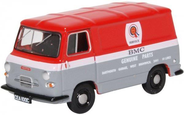 Oxford Diecast | Austin J4 Van BMC rot/grau/weiß