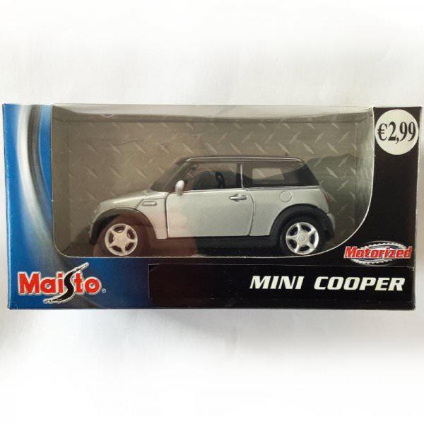 Maisto   BMW MINI Cooper silber / schwarz