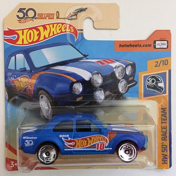 Hot Wheels | '70 Ford Escort RS1600 in mattblau, 50 Jahre HW