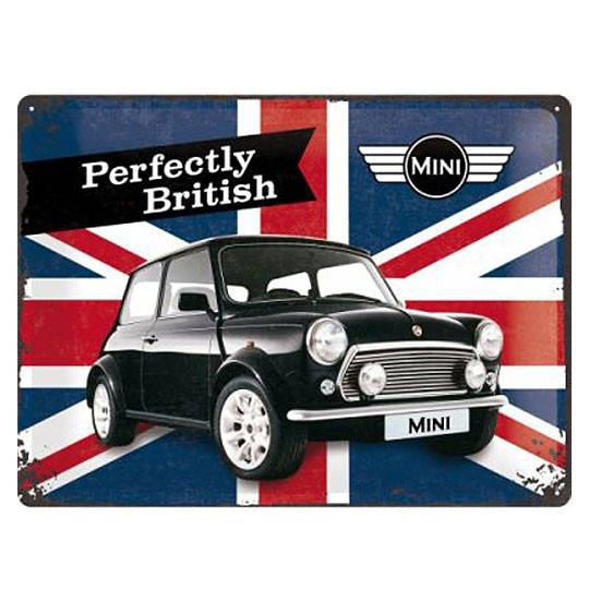 Metal sign | Mini - Perfectly British