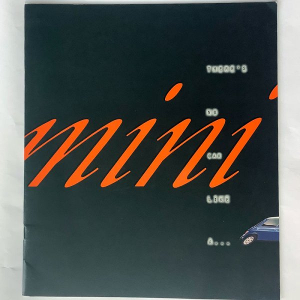 "Brochure Rover Mini ""There's no car like a Mini"""