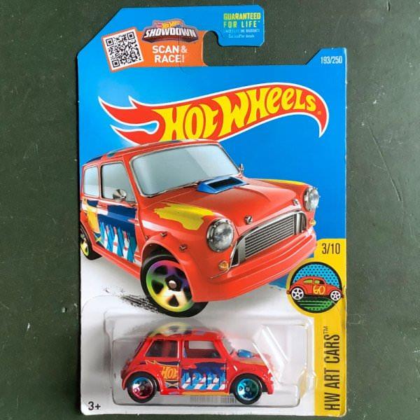 Hot Wheels   Morris Mini Art Car rot US