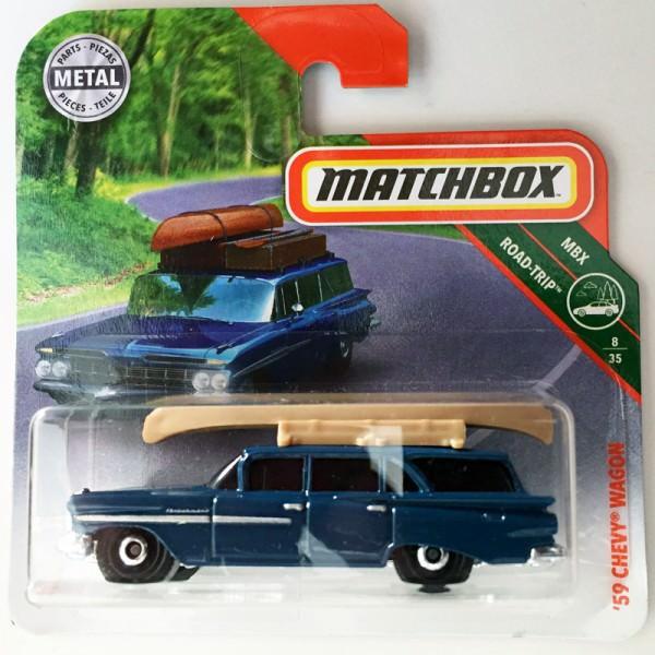 Matchbox | Chevy Wagon mit Kanu blaumetallic
