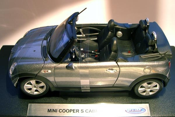 Welly | BMW Mini Cooper S Cabrio silber