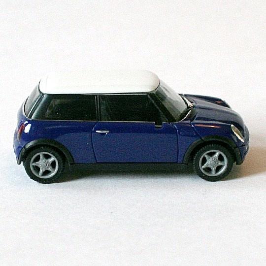 Herpa | BMW MINI Cooper blauviolett/weiß