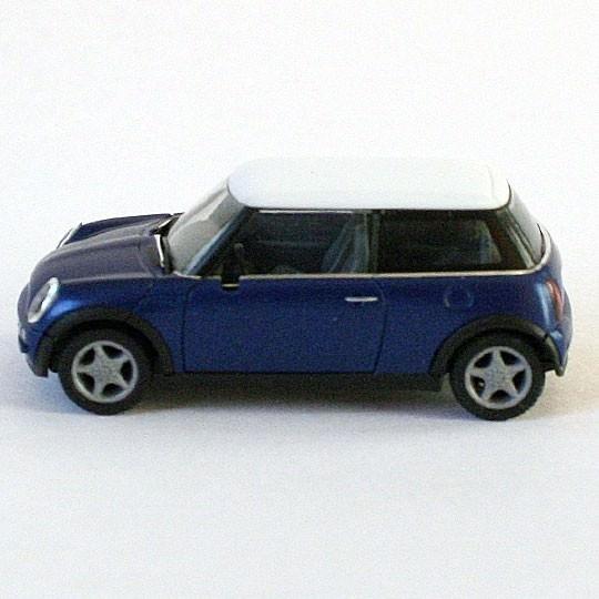 Herpa | BMW MINI Cooper blaumetallic/weiß