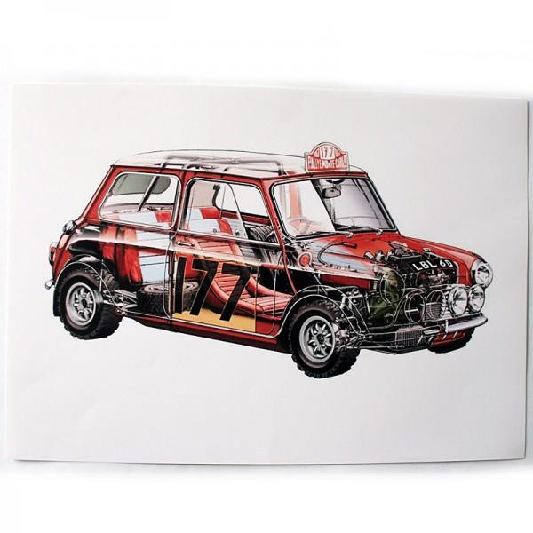 Schnittzeichnung Mini Cooper S LBL60 Monte Carlo