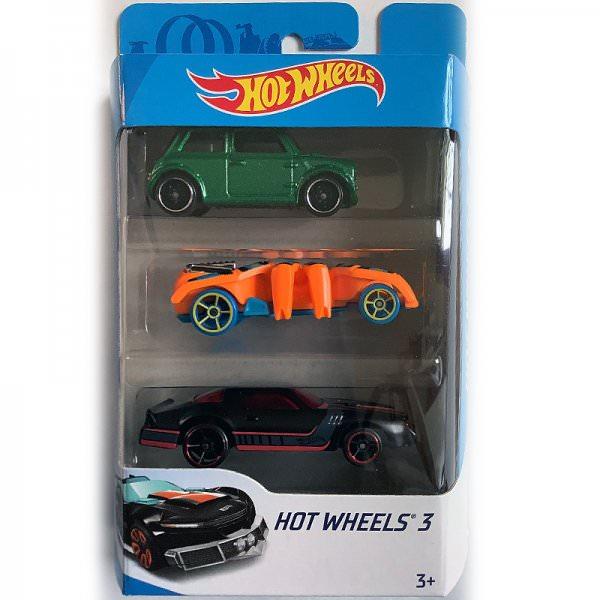 Hot Wheels | 3-Pack Morris Mini green metallic, Speed Spider orange & Camaro? black