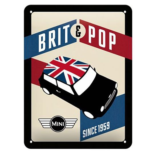 Metal sign | Mini - BRIT & POP since 1959