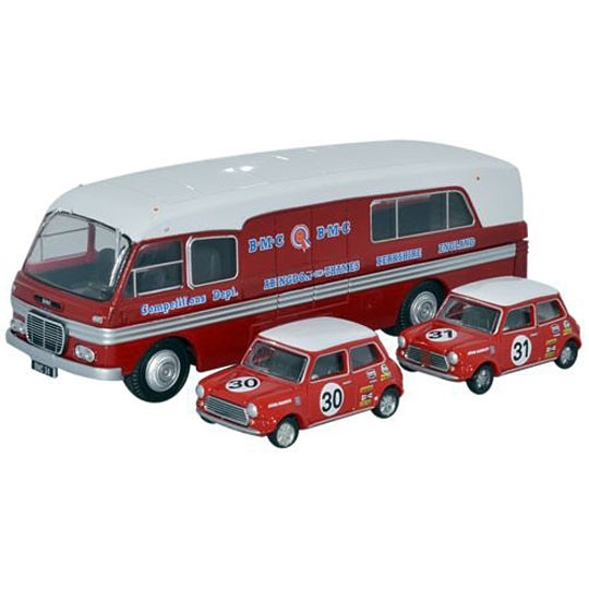 Oxford Diecast | BMC Car Transporter with 2 Minis