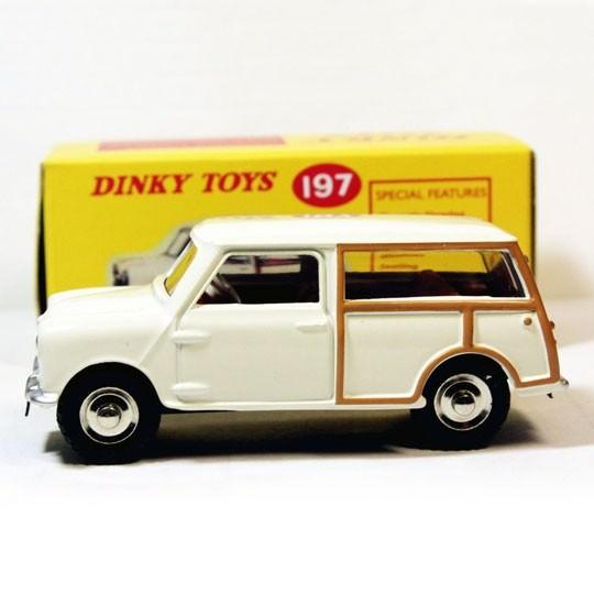 Atlas | Dinky Morris Mini Traveller Repro weiß