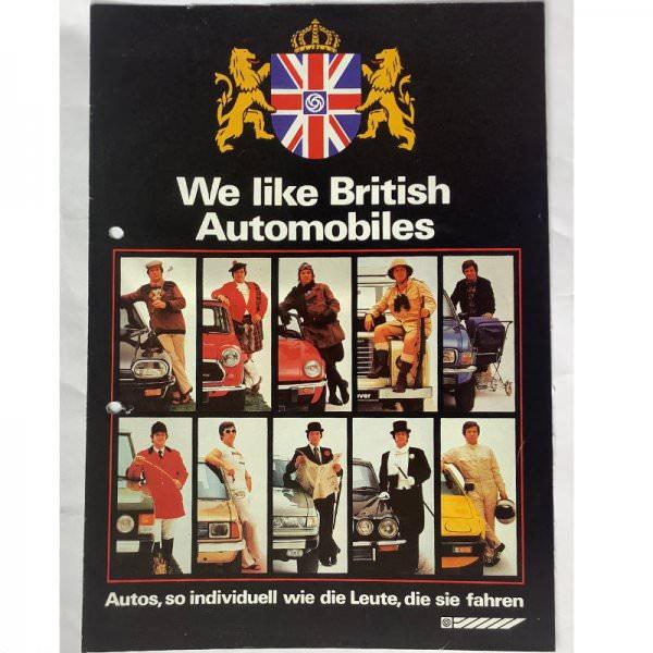 "Brochure British Leyland ""We like British Automobiles"""