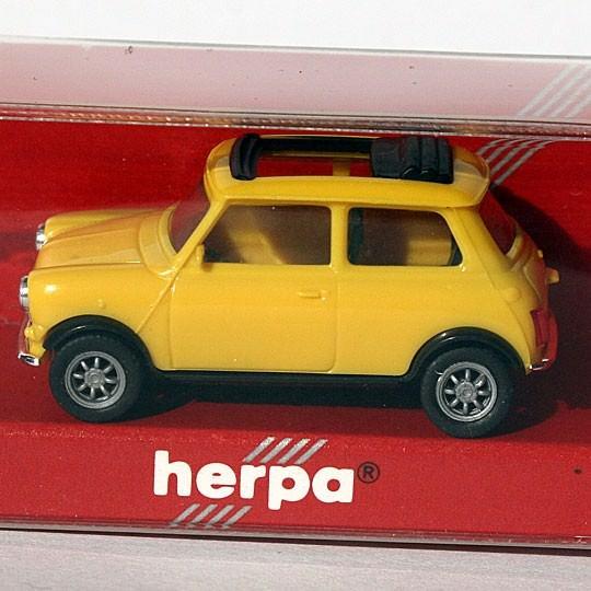 Herpa | Mini Cooper gelb offenes Faltdach