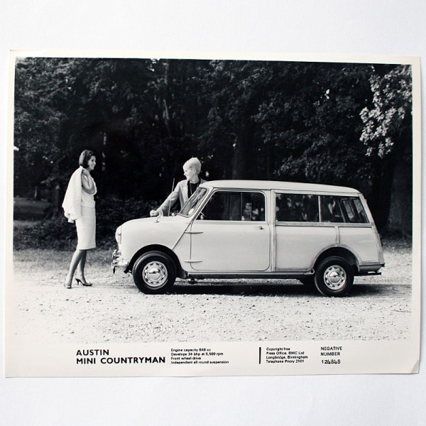 Original Pressefoto Austin Mini Countryman