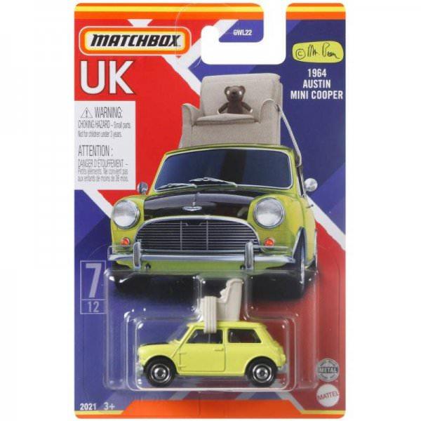 Matchbox | Best of UK Serie Mix 2 07/12 Austin Mini Cooper Mr- Bean mit Sessel