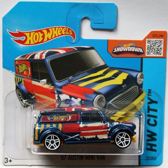 Hot Wheels | Austin Mini Van Art Car blau
