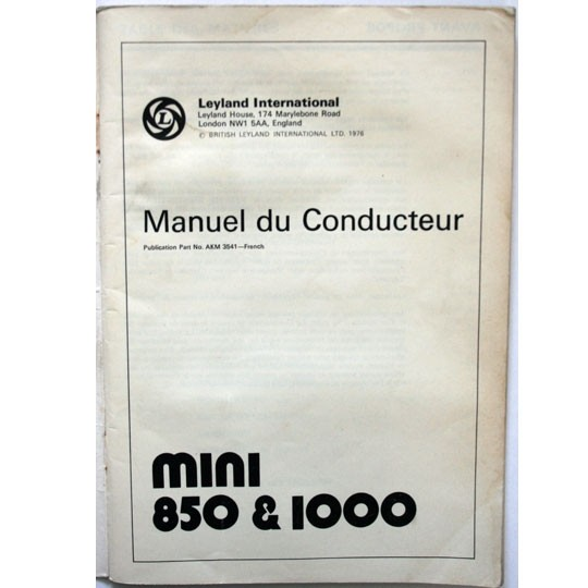 Drives Handbook Mini 1000 & 850 french