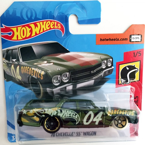 Hot Wheels | '70 Chevelle SS Wagon 04 HW Dareddevils, grünmetallic