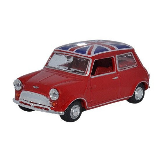 Oxford Diecast | Mini with Union Jack roof red