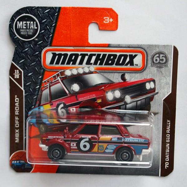 Matchbox | '70 Datsun 510 Rally dunkelrot #6