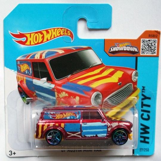 Hot Wheels | Austin Mini Van Art Car red