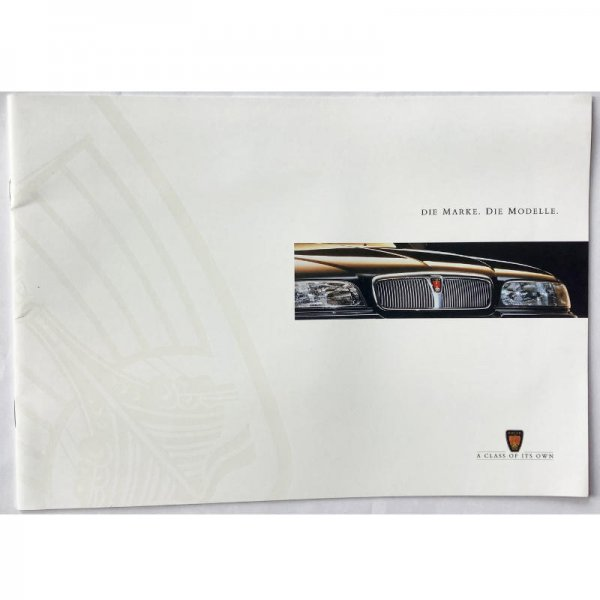"""Brochure Rover """"The brands the models"""