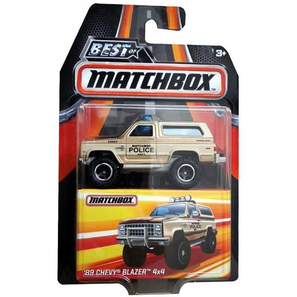 Matchbox   '89 Chevy Blazer 4x4 Police beige