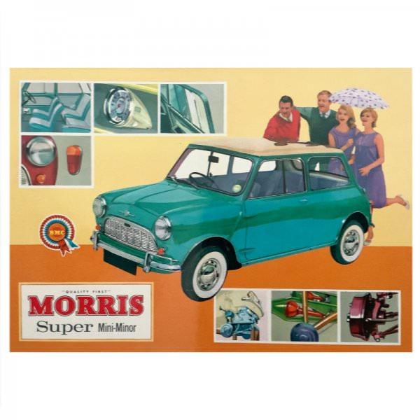 Postkarte | Morris Mini Minor Super
