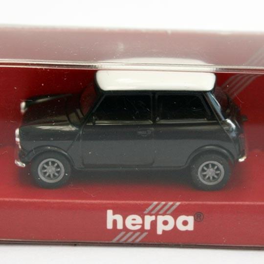 Herpa | Mini Cooper schwarz / weiß