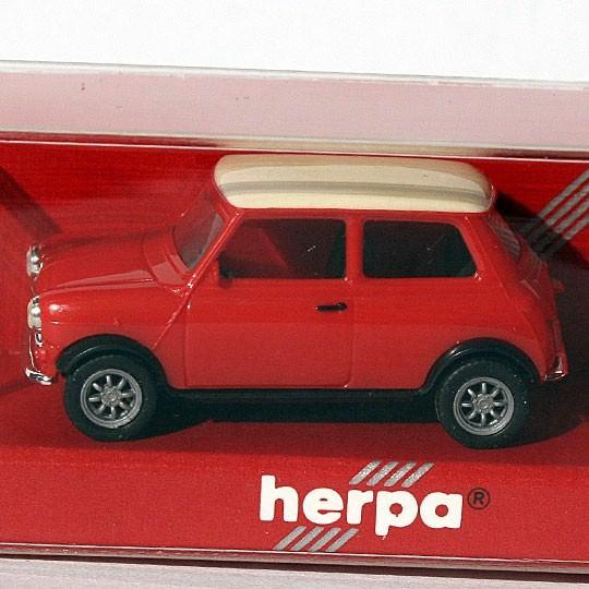 Herpa | Mini Cooper rot / weiß