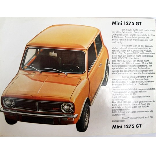 Mini Clubman 1275 GT Broschüre