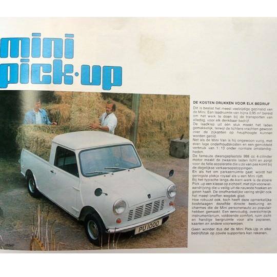 Mini Van & Pickup Prospekt holländisch