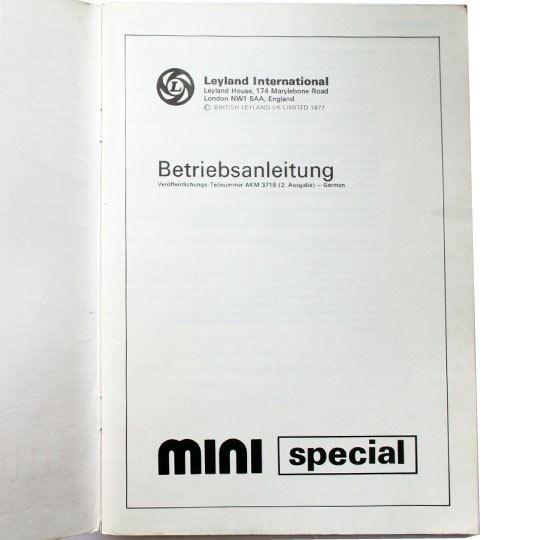 Betriebsanleitung Mini Special