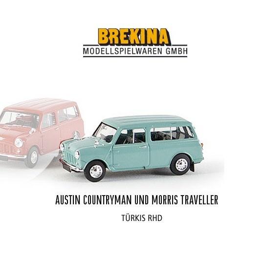 Brekina | Austin Mini Traveller pastelltürkis RHD