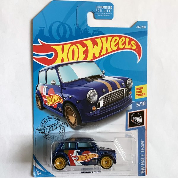 "Hot Wheels | Super Treasure Hunt Morris Mini ""Hot Wheels Racing"" metallic blue US"