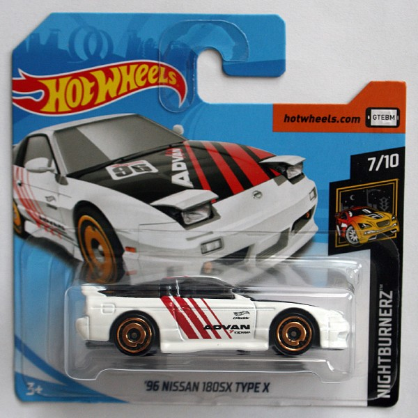Hot Wheels | '96 Nissan 180SX Type X, weiß ADVAN