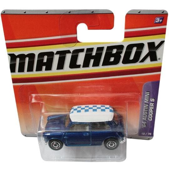 Matchbox | Austin Mini Cooper S blau /weiß