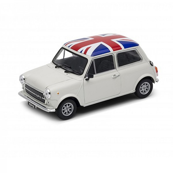 Welly | Innocenti Mini Cooper 1300 weiß, mit Union Jack