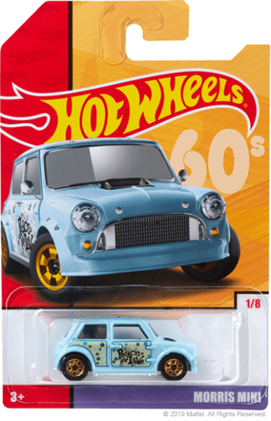 Hot Wheels | Target Throwback Editions 01 Morris Mini PEACE light blue