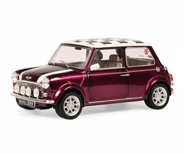 Solido | Mini Cooper 1,3i Sport Pack violett mit schwarz/weiß kariertem Dach